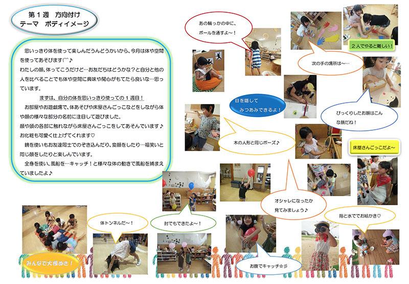 ゆき組(4歳児) ボディイメージ